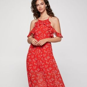 BCBGeneration Hibiscus Floral Maxi Dress